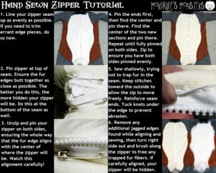 Hand Sewn Zipper Tutorial
