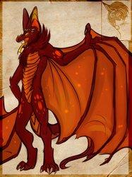 Bat-dragon design -Commission-