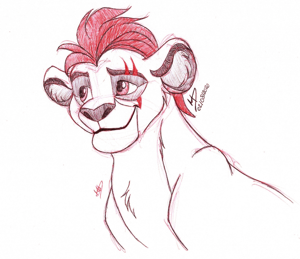 Sketch of Kion from The Lion Guard