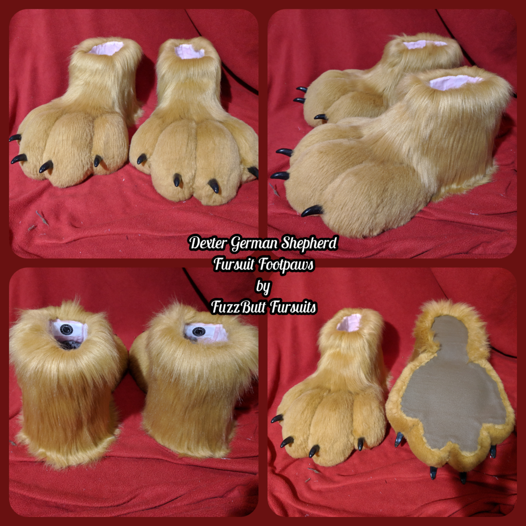 Dexter German Shepherd Fursuit Footpaws