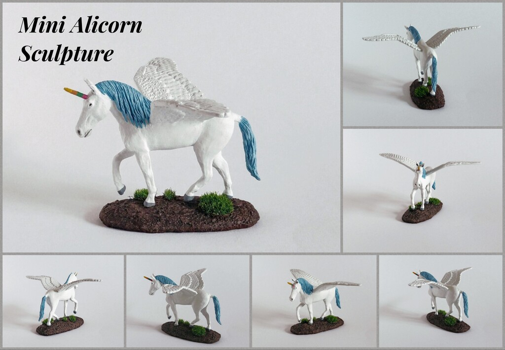Most recent image: Mini Alicorn Sculpture
