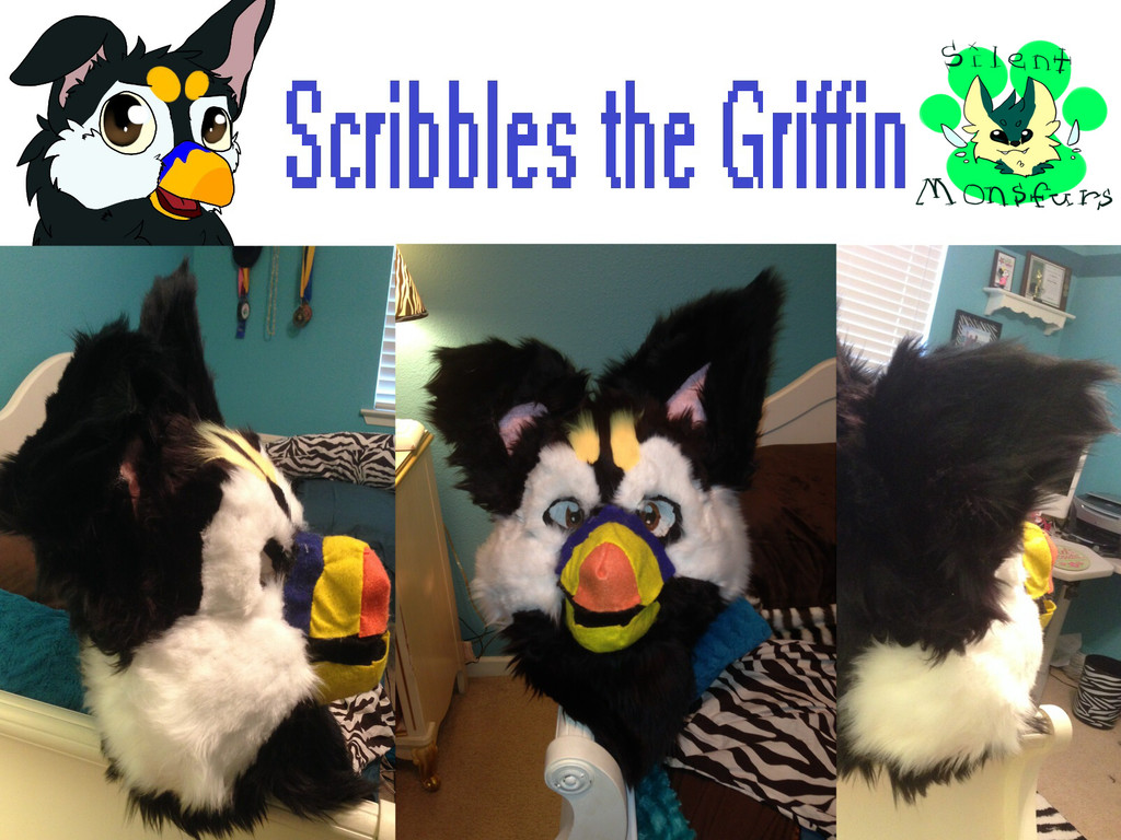 Scribbles the Griffin Head