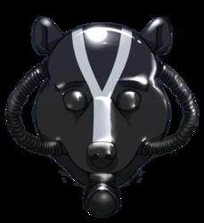 Rubber skunk mask commission