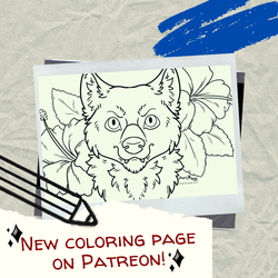 June Coloring Page is up on Patreon!