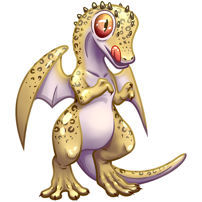 Stand up yellow Dragon gecko