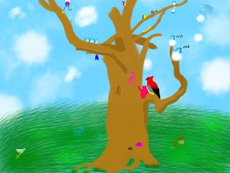 Pokemon in the tree