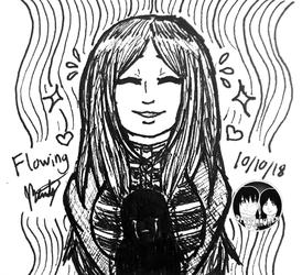 "Inktober 2018 - Day 10 ""Flowing"""