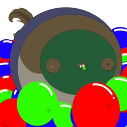 Inflated Enzo in a Balloon Pit by Logan9702