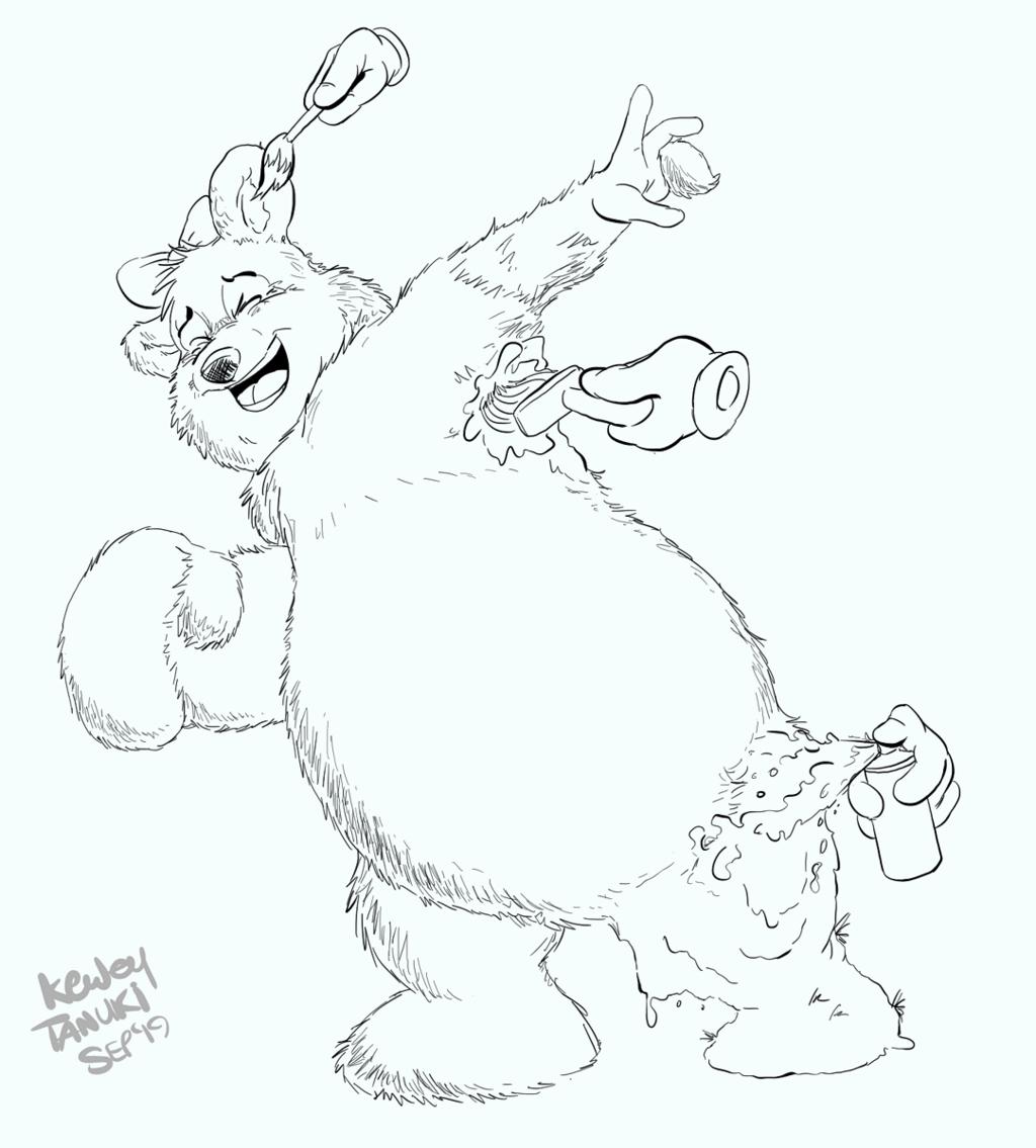 Teddy paint tickles!