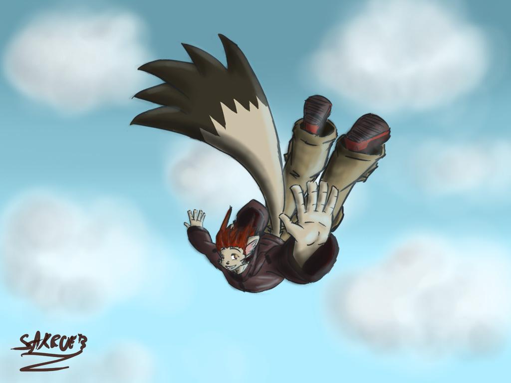 free fall - front shot