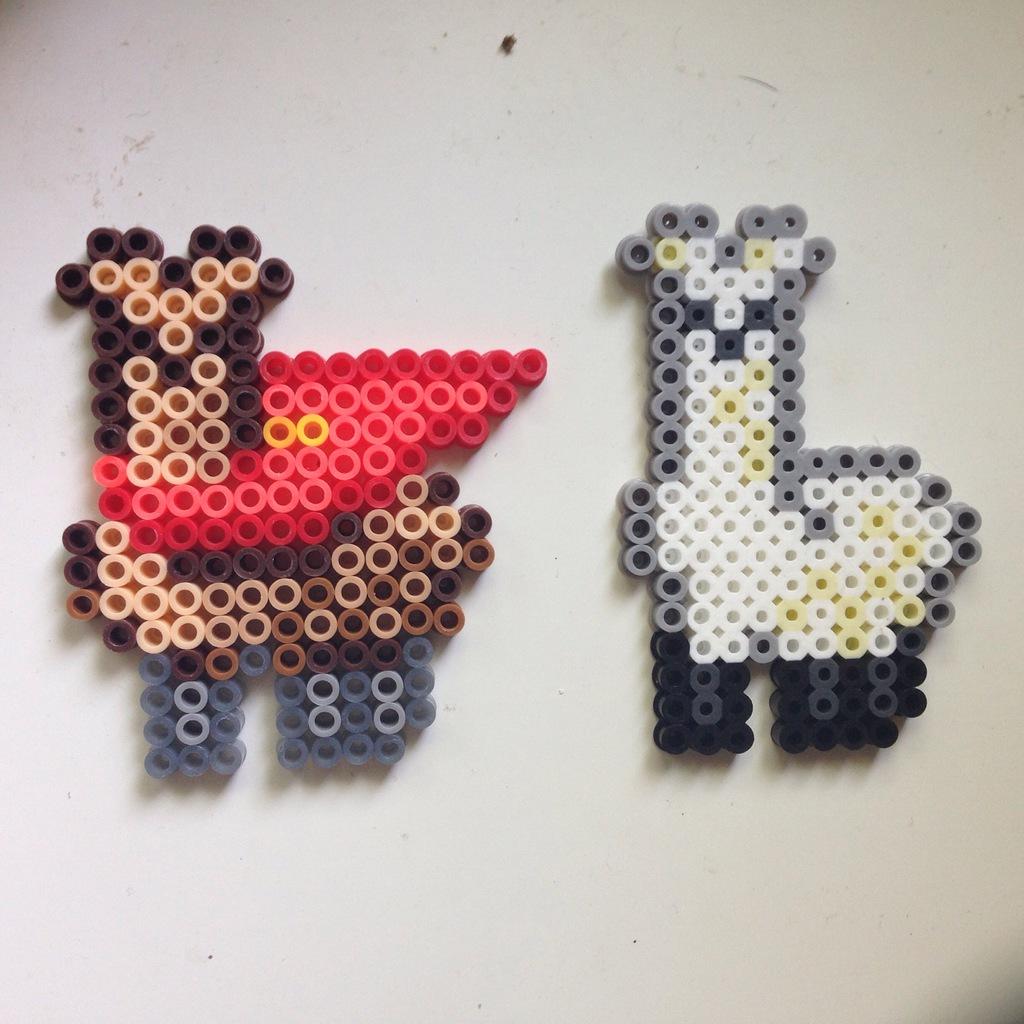 llama badge perlers