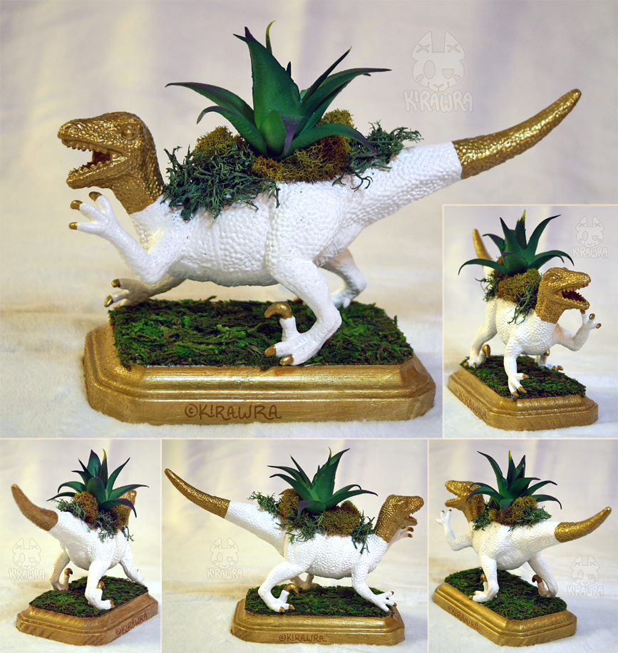 Velociraptor Planter Centerpiece