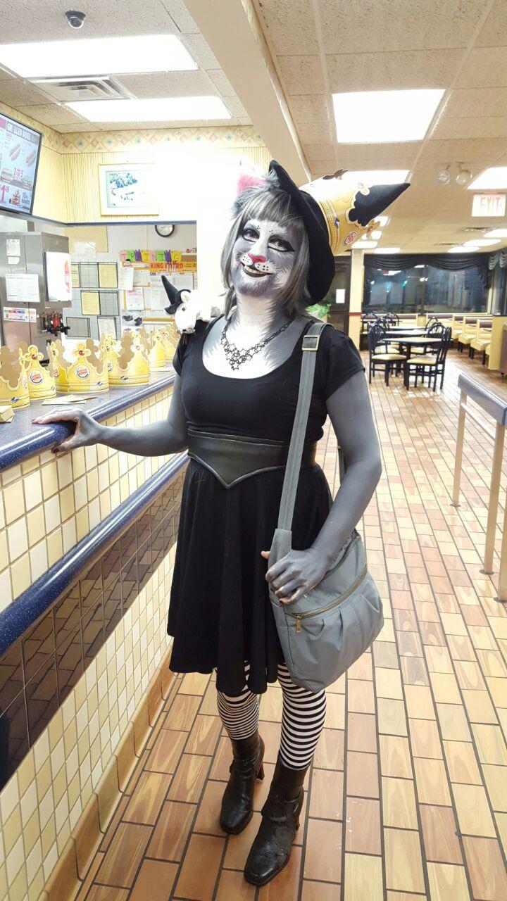 Newsprint Kitty Witch Halloween 2016