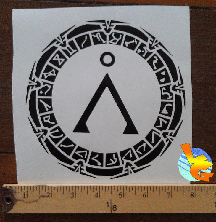 Stargate Vinyl Sticker