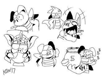 Wonder Boy doodles