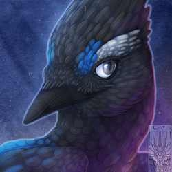 Icon Comish - Twilit Feathers