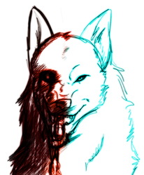 two sides of the same wolf