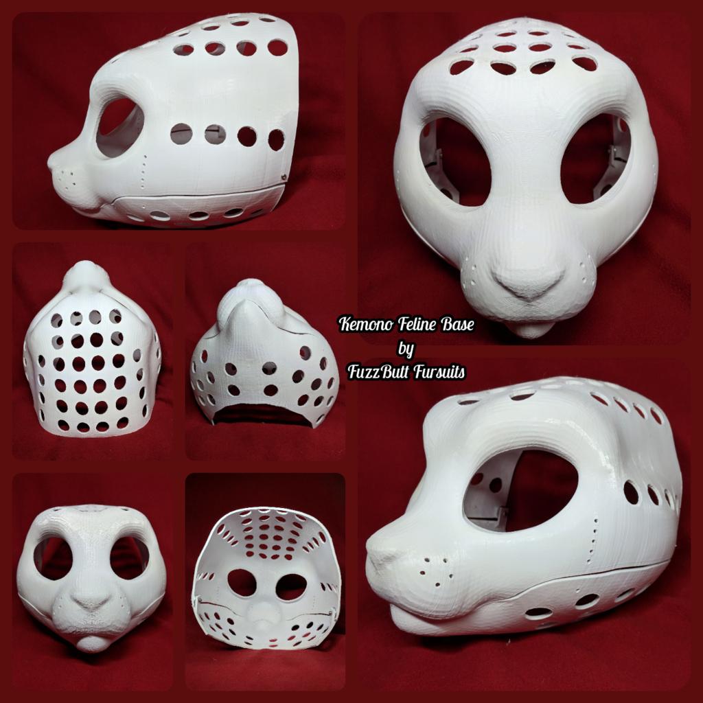 Kemono Feline 3D Head Base