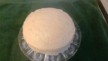 White cake with Peanut-butter Buttercream Frosting!