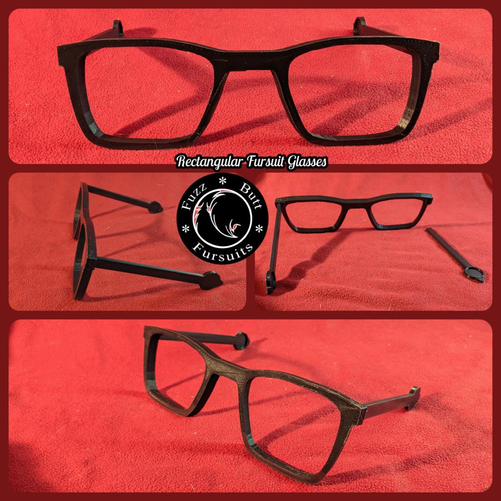 Rectangular Fursuit Glasses