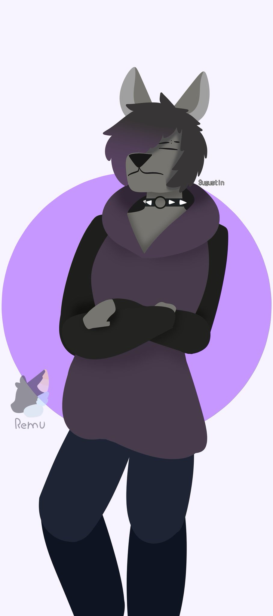 """2nd part of a """"Art-Trade"""" with Remu The Bat"""