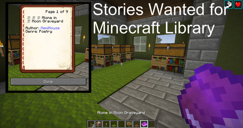 Short Stories Wanted for MINECRAFT LIBRARY