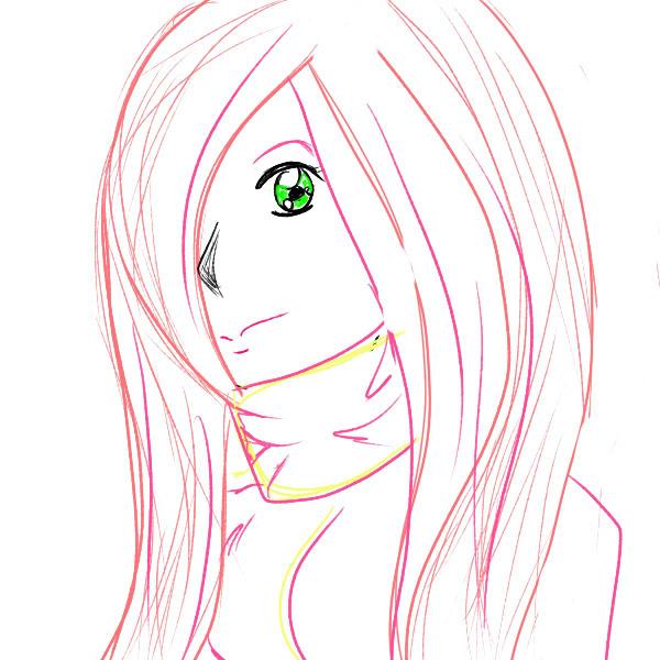 Fluttershy Human Bust Sketch