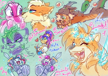 COM: Fae'April Easter Scribbly Page 1