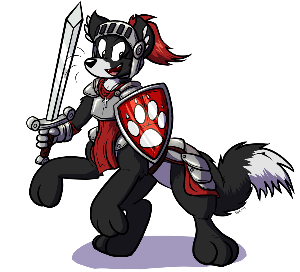 Red The WolfTaur Knight!