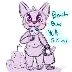 Beach babe YCH