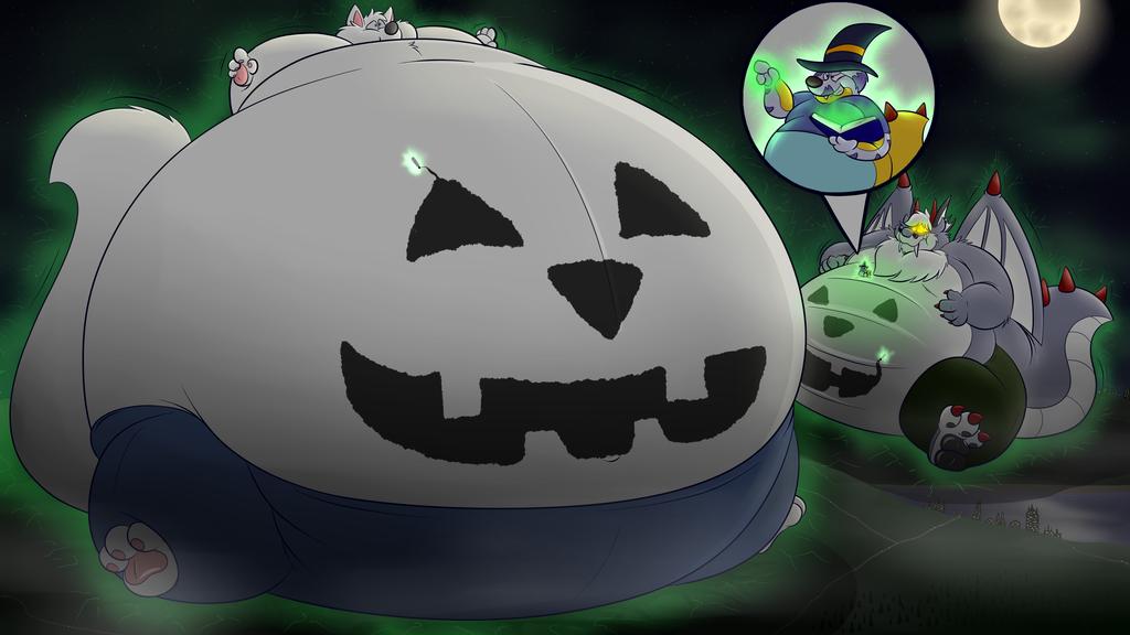 Improvised Jack-O-Lanterns....