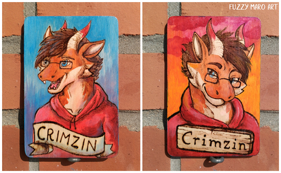 Wodden badge - dragon