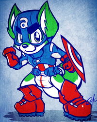 [COMMISSION SKETCH] - CUB AMERICA, THE FIRST ADORABLE