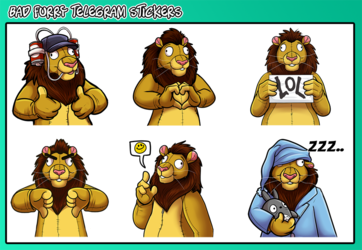 Bad Furry telegram stickers