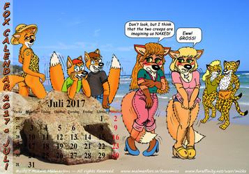 Fox Calendar 2017 - July