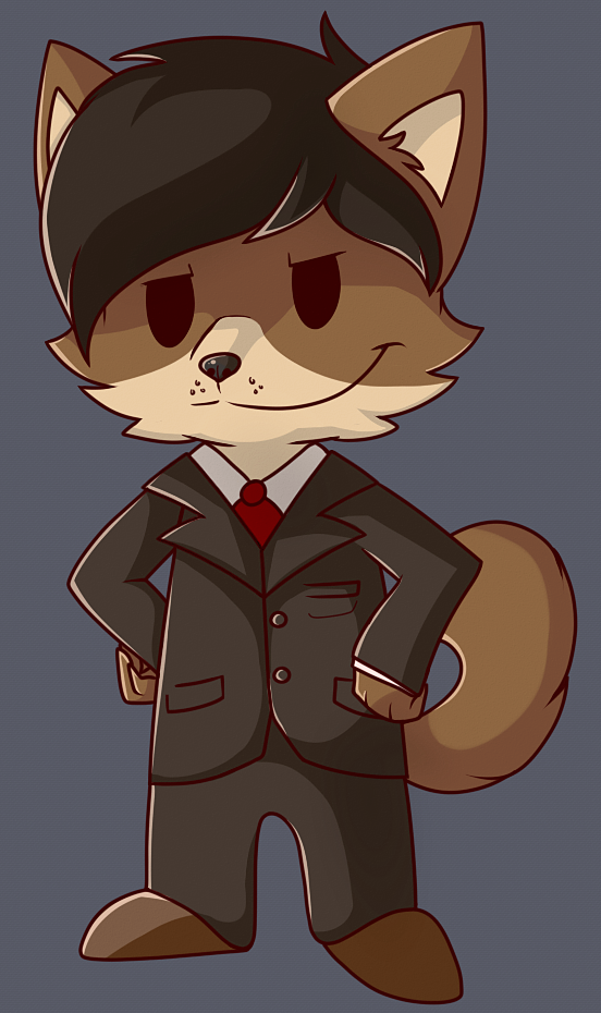 A classy dhole in a classy suit