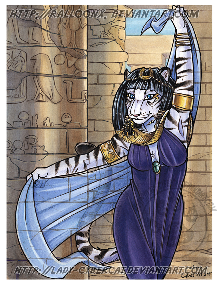 Watercolor Egyptian Tiger Auction