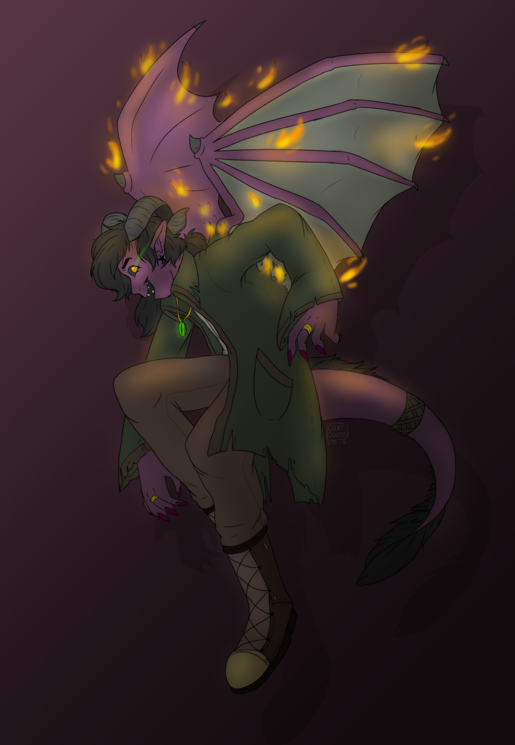 Aton the Tiefling Sorcerer