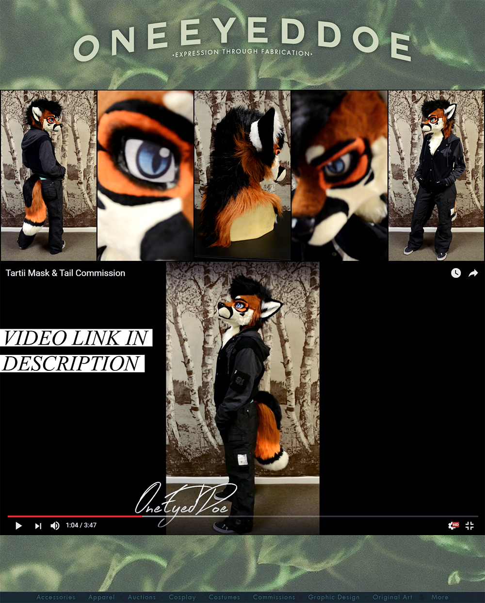 Most recent image: Tartii Mask & Tail Commission + Video