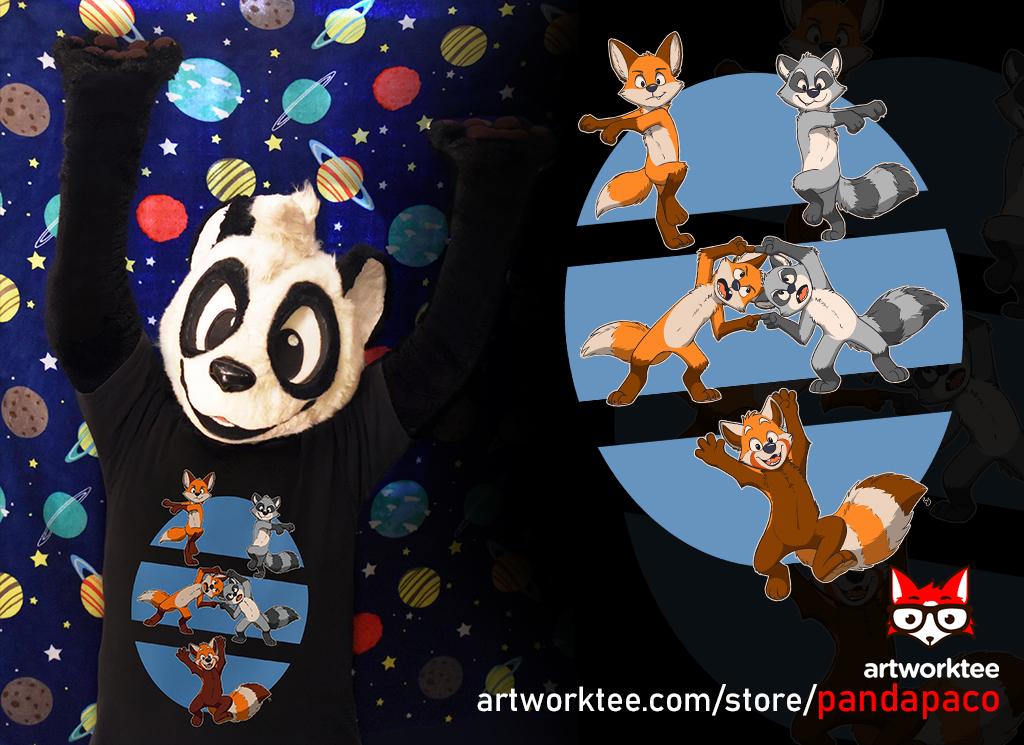 Fusion (Fox + Raccoon = Red Panda) T-shirt