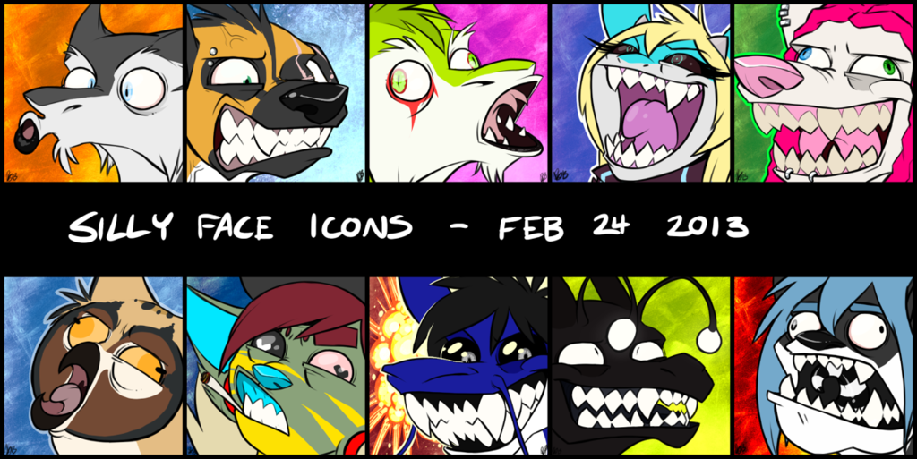 Silly Face Icons!