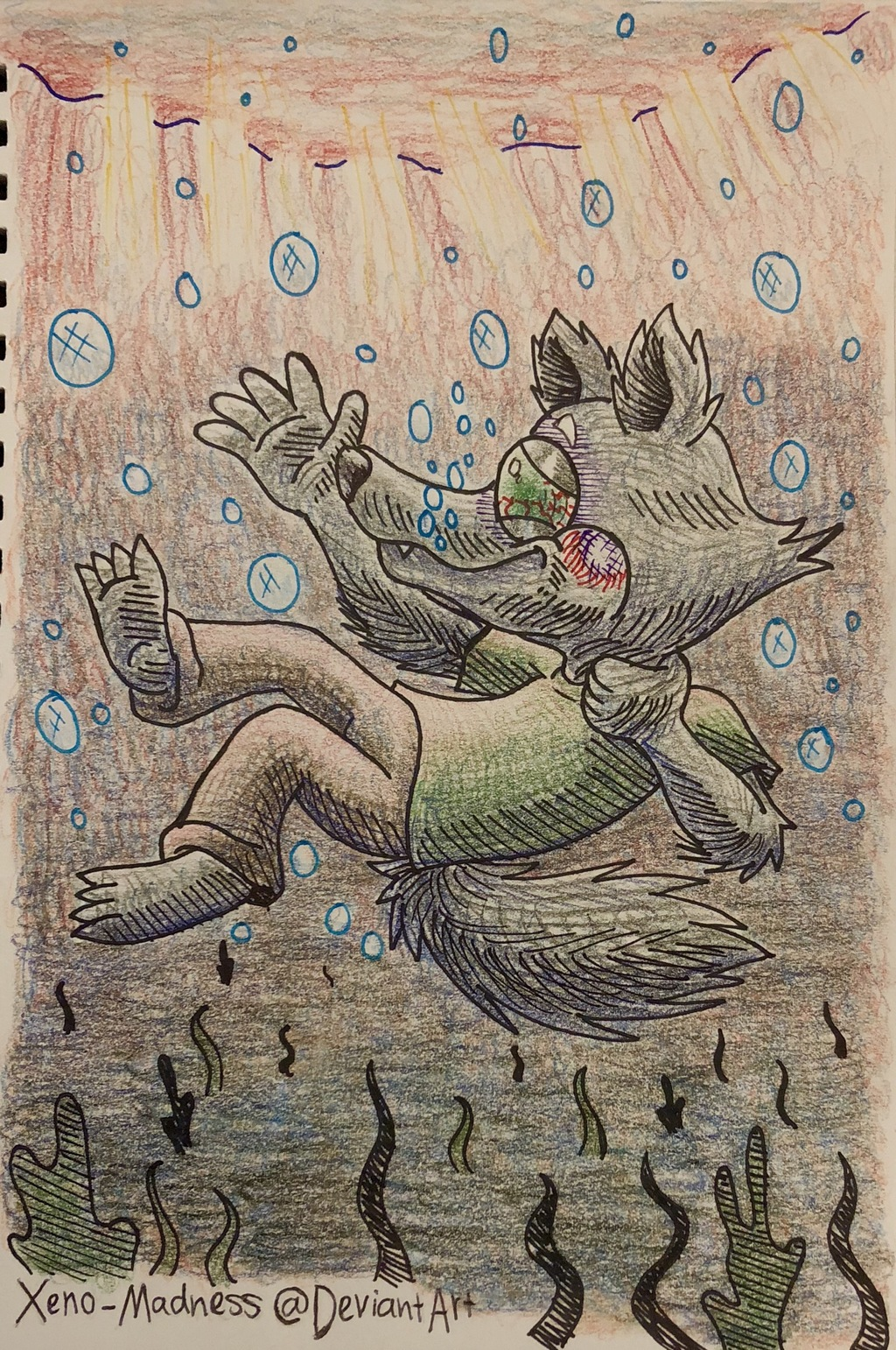 Inktober 15: Drowning