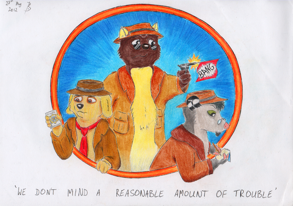 The K9 Retriever, The Undercover Marten And The Private Dick