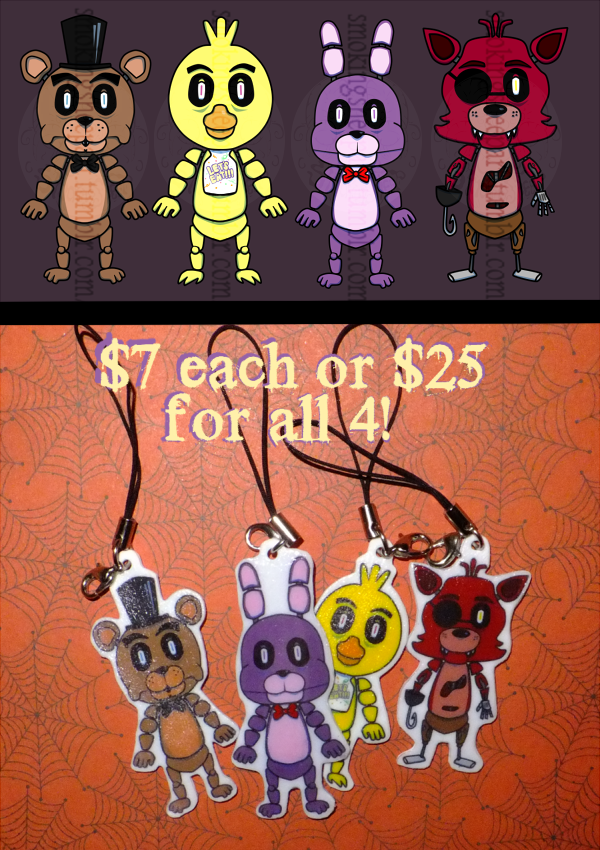Most recent image: Five Nights at Freddy's chibi charms!