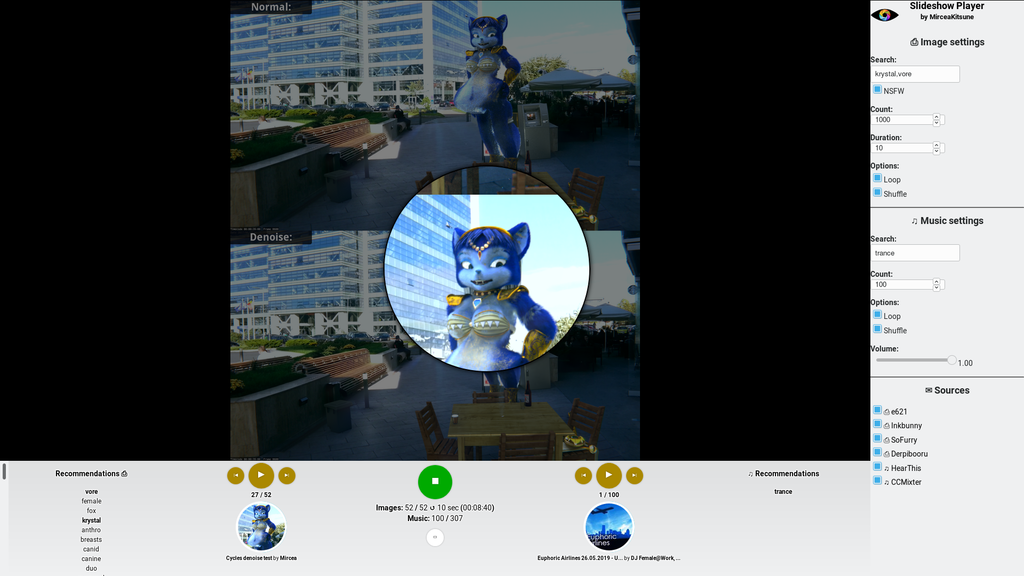 Slideshow Player: Magnifier glass