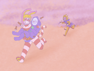 Clown chase