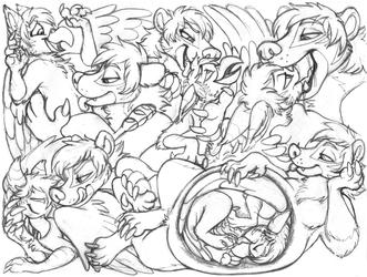 pixelthegryphon sketchpage commission (teasing/vore)
