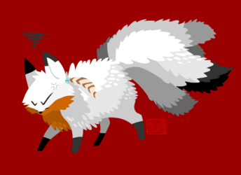 angry fluffy kitsune