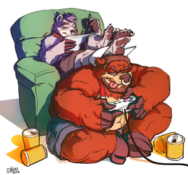 A Couch & Footrest