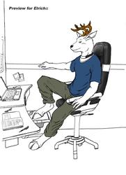 084 Procrastinating Deer